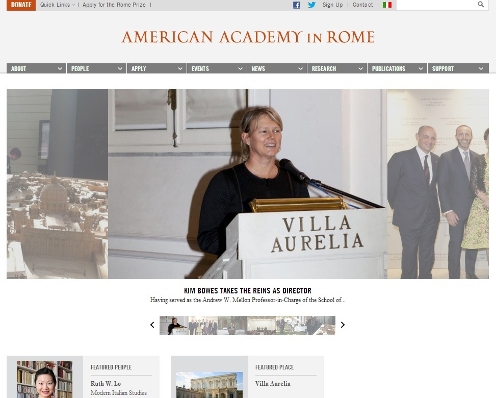 The American Academy's 2014 - Rome Prize