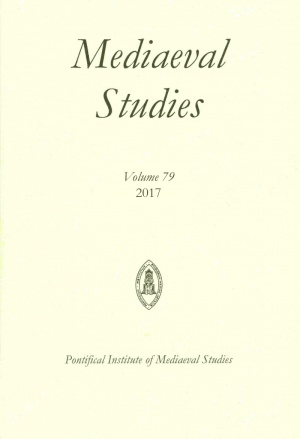 Mediaeval Studies Volume 79 (2017)