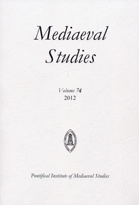 Mediaeval Studies Volume 75 (2013)