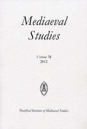 Mediaeval Studies Volume 74 (2012)